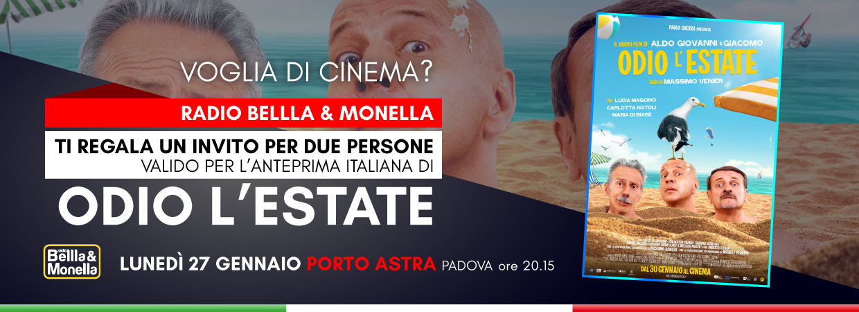 "Invito al cinema – ""Odio l'Estate"""